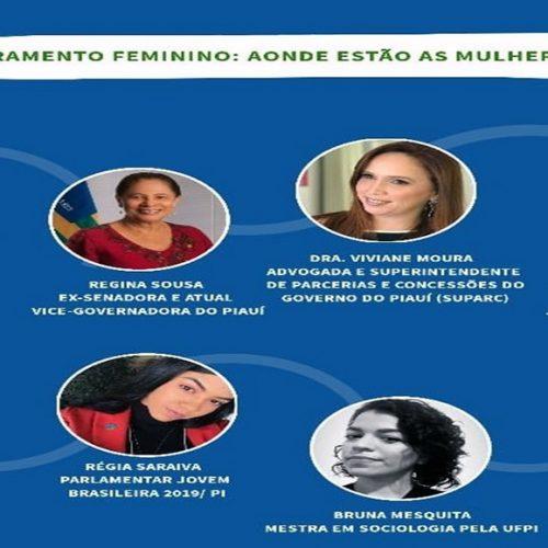 PAULISTANA   Representante do Parlamento Mercosul promoverá bate-papo virtual 'Empoderamento Feminino: Aonde estão as mulheres piauienses?'