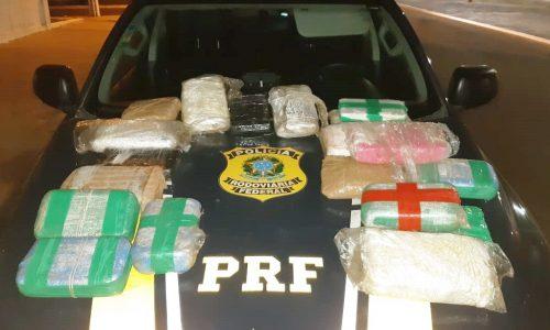 Droga avaliada em R$ 640 mil é apreendida em fundo falso de veículo na BR-343