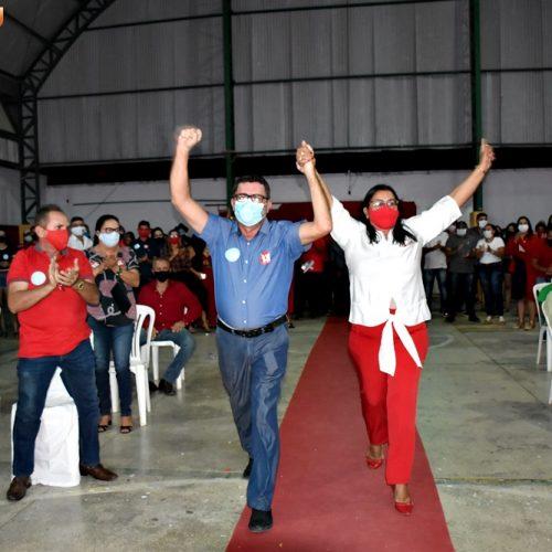 Convenção em Alegrete do Piauí homologa candidaturas de Lila Alencar e Manoel de Zé Pedro; fotos