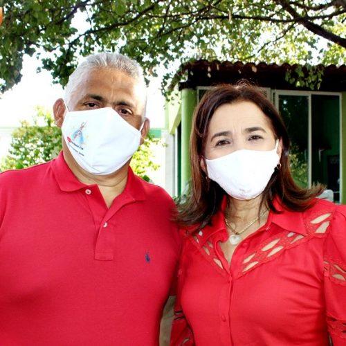 Convenção homologa candidaturas de Alex e Edite para disputar Prefeitura de Francisco Santos; veja fotos