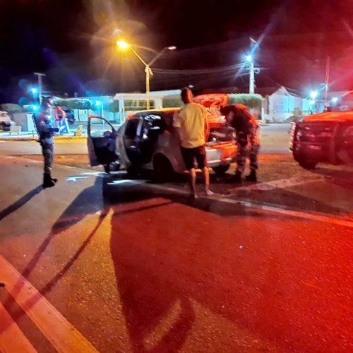Homem é conduzido pela Força Tática de Paulistana após ser flagrado com motor de veículo roubado