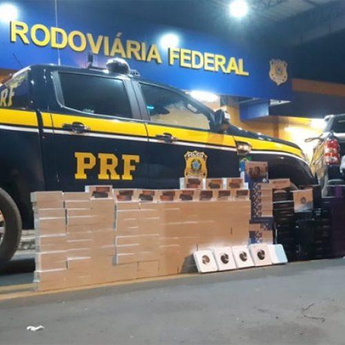 PRF apreende no Piauí carga de eletrônicos avaliada em R$ 370 mil