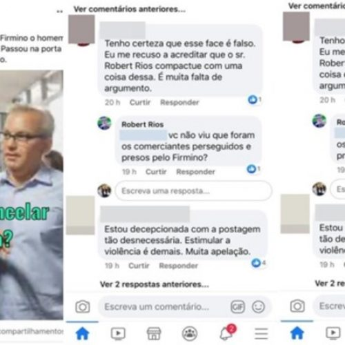 "Robert Rios incentiva ""jogar merda"" em carreata de Kleber e Firmino; internautas rebatem"