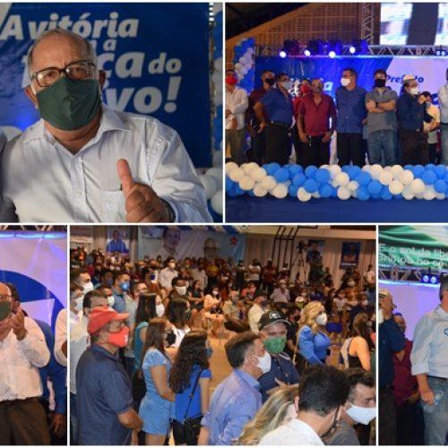 Convenção do PP e PT homologa candidaturas de Naerton Moura e Chaguinha em Sussuapara