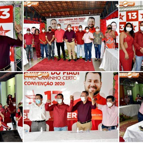 Convenção do PT em Alagoinha do Piauí homologa candidaturas de Jorismar Rocha e Cícero Alberto; veja fotos