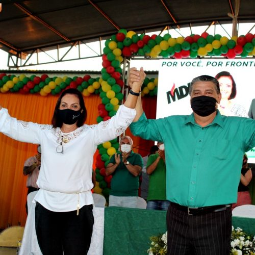 MDB de Fronteiras homologa candidaturas de Maria José e Juraci Bezerra rumo ao Paço Municipal; fotos