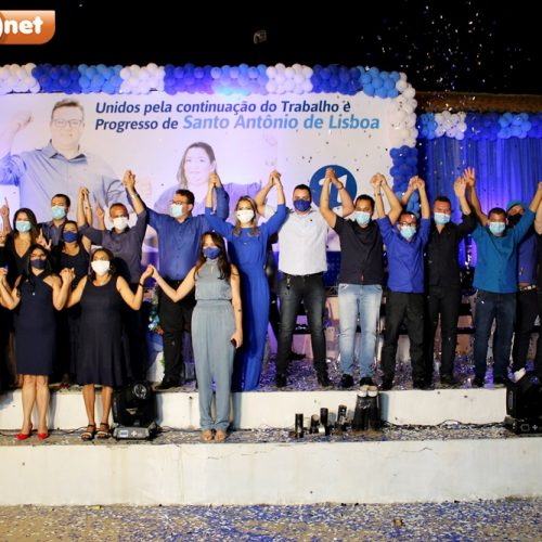 Convenção do Progressistas homologa candidaturas de Dr. Karlos e Mircéia em Santo Antônio de Lisboa