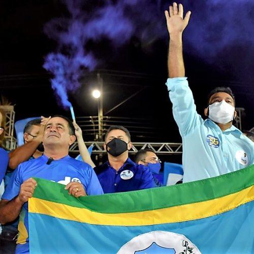 Inauguração de comitê leva multidão às ruas e fortalece campanha de Eudes e Gernilson em Fronteiras; fotos