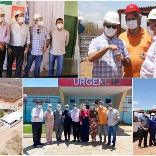 Em Picos, Wellington Dias e Pablo Santos entregam novos leitos de UTI do HRJL e visitam obras do Novo Hospital