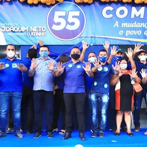 PATOS | Joaquim Neto e Luizinho realizam carreata e inauguram comitê com a presença do deputado Georgiano Neto