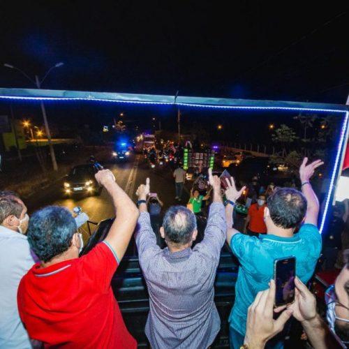 PICOS | Após vencer Covid-19, Araujinho é recepcionado com grande carreata