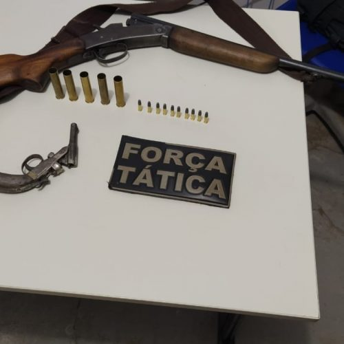 Força Tática de Picos apreende duas armas de fogo e prende homem que causava pânico no povoado Coroatá