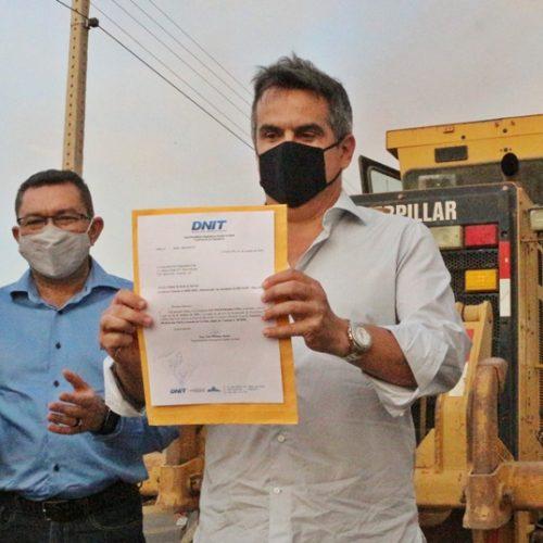 PICOS | Ordem de serviços é assinada e obras de asfaltamento das laterais da BR 316 tem início próxima semana