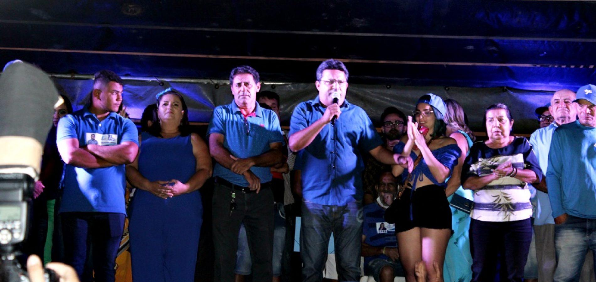 Inauguração de comitê e carreata marcam campanha de Dr. Corinto Matos e Valmir de Juracy em Marcolândia; veja fotos