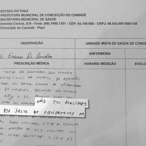 Paciente morre engasgado com carne em Conceição do Canindé; UBS não tinha equipamento para intubação