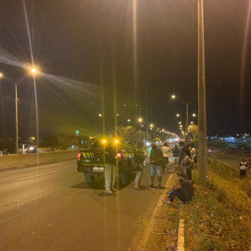 Motociclista morre após ser atropelado por caminhão na BR-316