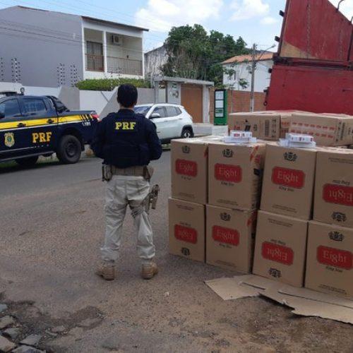 PRF apreende em Picos carga de cigarros contrabandeados avaliada em R$ 120 mil