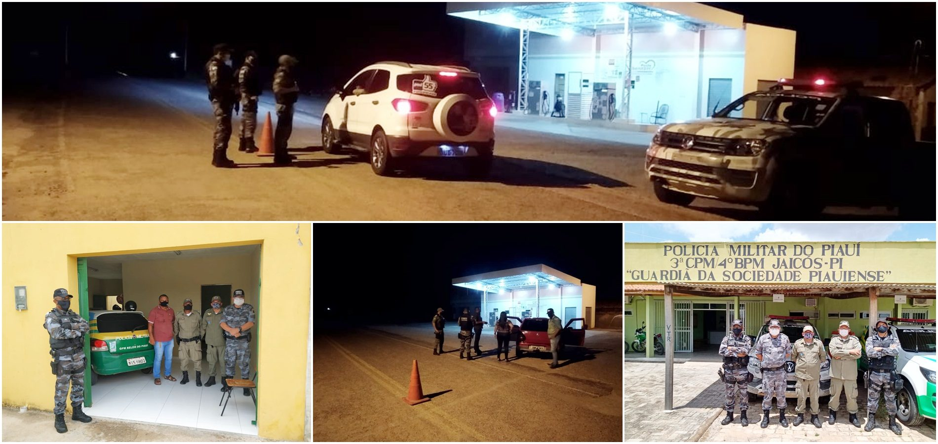 Comandante de Policiamento do Semiárido visita CIA da PM de Jaicós e três cidades recebem reforço policial