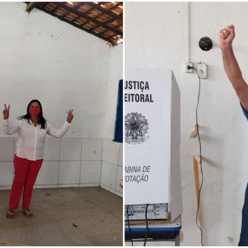 Lila Alencar e Manoel de Zé Pedro comparecem às urnas em Alegrete do Piauí