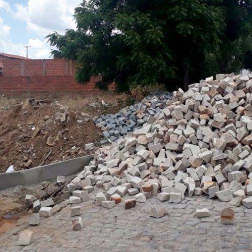 Prefeitura de Francisco Macedo inicia obra de mais de 8 mil metros de calçamento