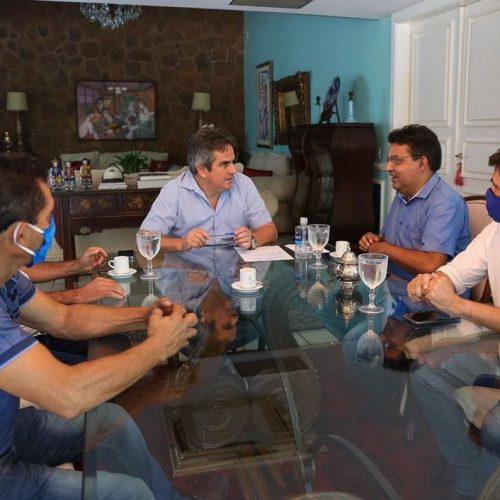 MARCOLÂNDIA | Após vencer eleições, Dr. Corinto e Valmir de Juracy tem audiência com o senador Ciro Nogueira em Teresina