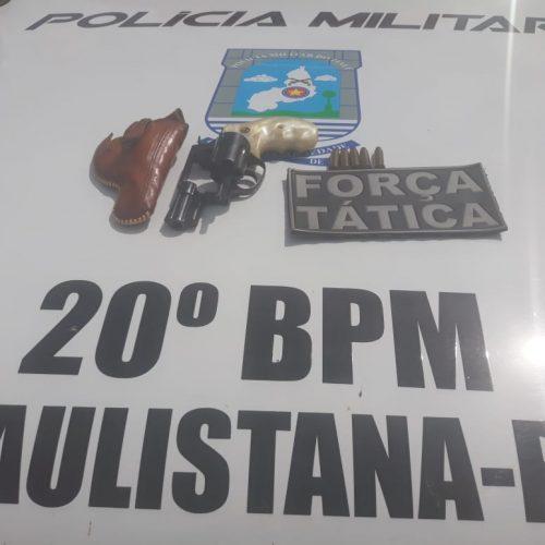 PM de Paulistana apreende arma de fogo com cinco munições intactas