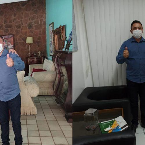 Em Teresina, prefeito eleito Dr. Carlim tem audiências com Ciro e Júlio César e busca investimentos para Vera Mendes