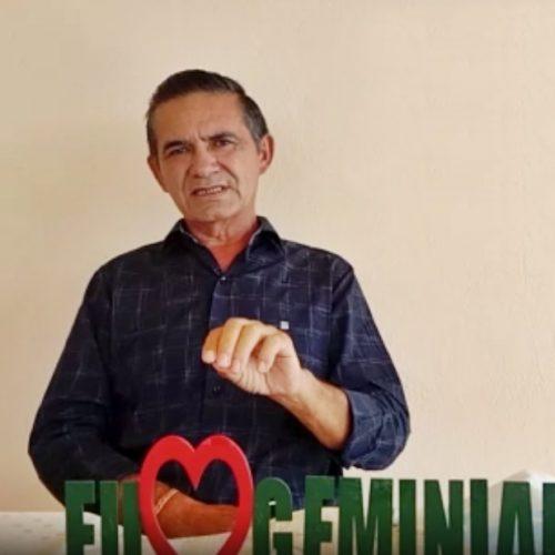 Prefeito de Geminiano testa positivo para a Covid-19 e em vídeo pede o apoio da população