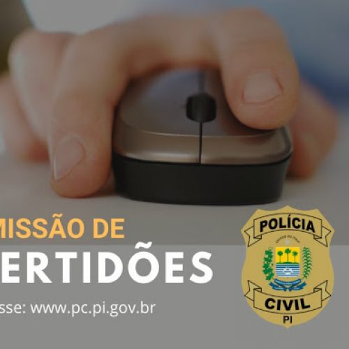 Polícia Civil disponibiliza novo canal para Emissão de Certidões