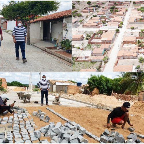 JAICÓS   Obra de pavimentação contempla todo o povoado Croazal e muda realidade de moradores