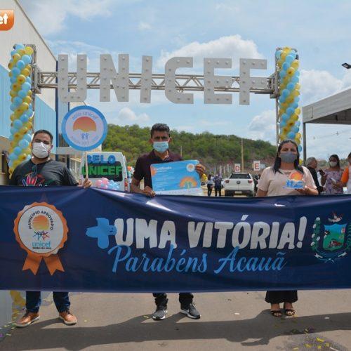 Acauã recebe a certificação do Selo Unicef pela segunda vez
