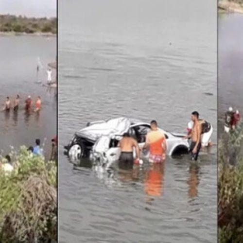 Carro cai dentro de açude em Araripina e deixa três mortos em grave acidente