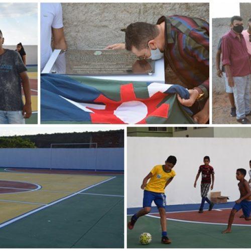 PICOS 130 ANOS | Comunidade Cristovinho é contemplada com quadra poliesportiva