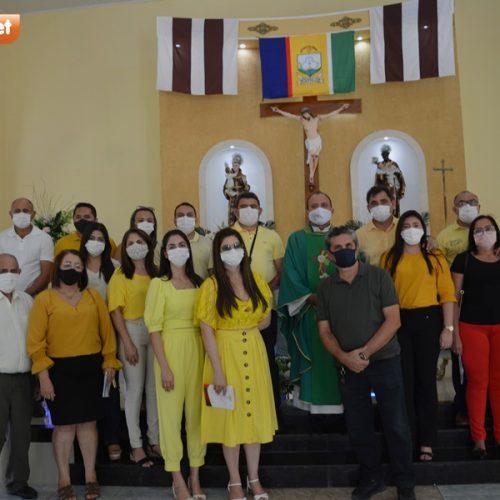 PADRE MARCOS 57 ANOS |  Veja as fotos do hasteamento das bandeiras e missa em Ação de Graças