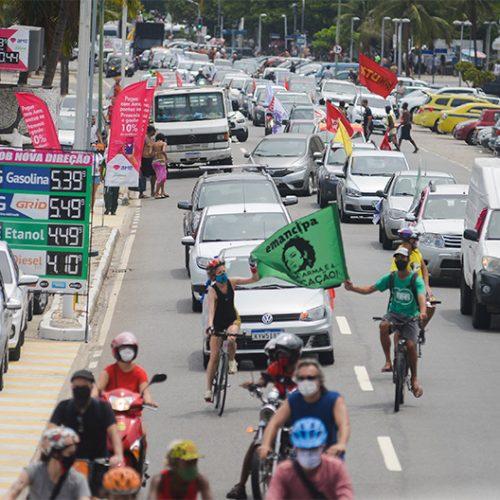 Carreata no Rio volta a pedir fora Bolsonaro, vacinação e auxílio emergencial