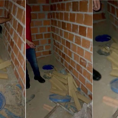 Polícia encontra maconha enterrada em casa em construção em cidade no Piauí