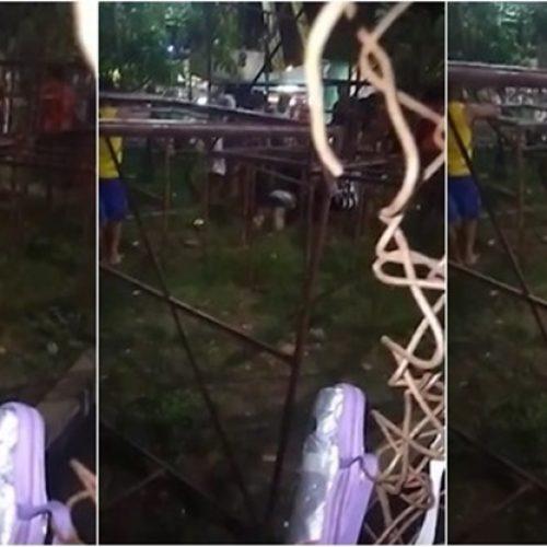Três pessoas ficam feridas após acidente em parque de diversões