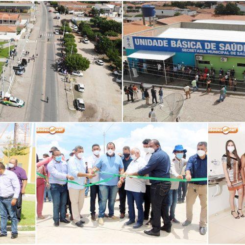 No aniversário de Jaicós, prefeito entrega Unidades de Saúde, veículos, praça e calçamento do pov. Croazal