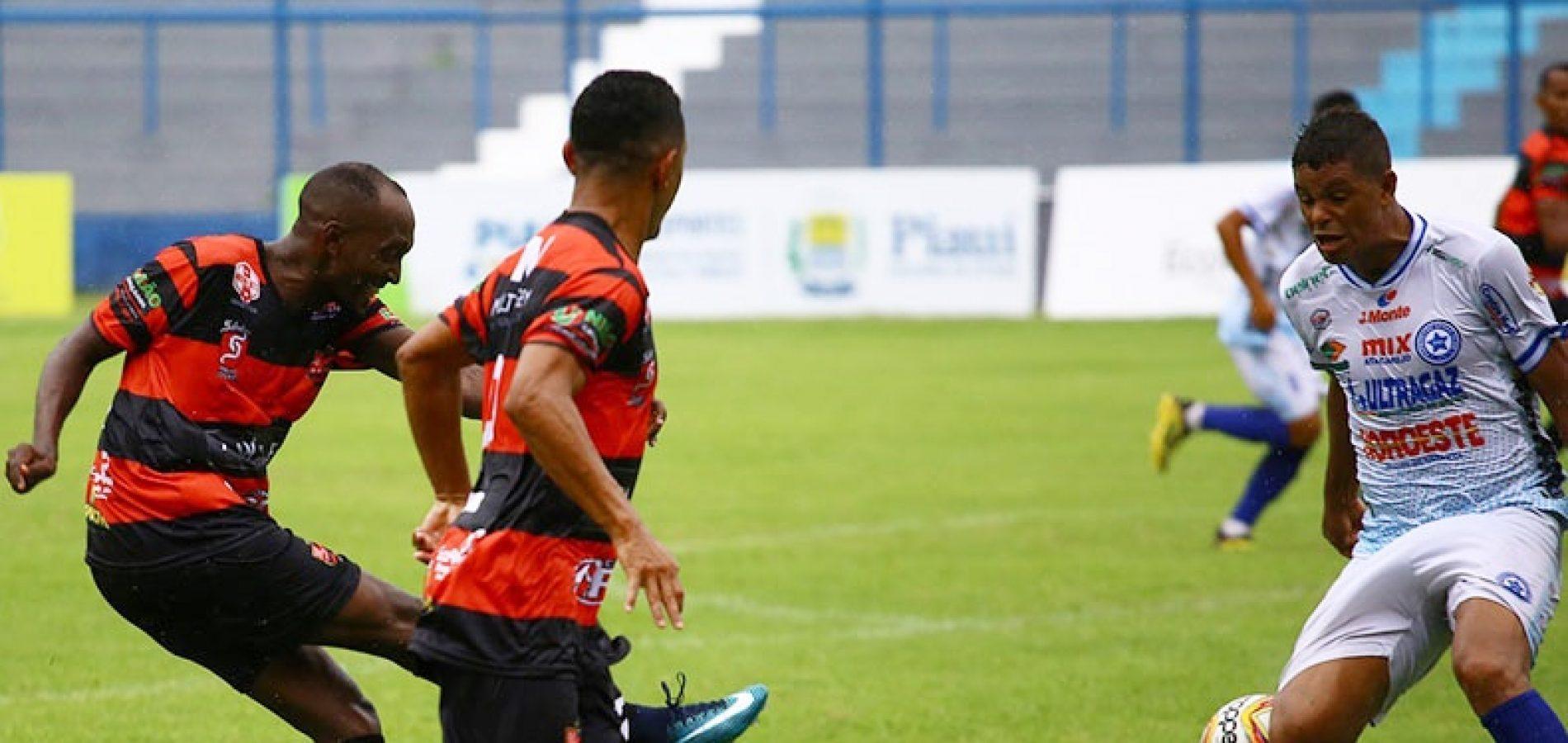 Com gol no último minuto, Parnahyba vence Flamengo e é líder do Campeonato Piauiense