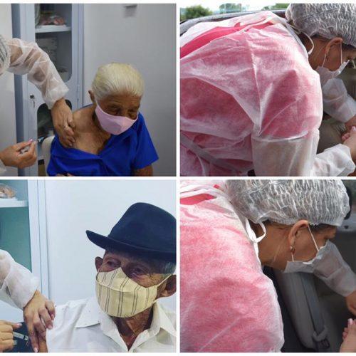 Covid-19: Saúde de Picos inicia imunização de idosos com mais de 90 anos