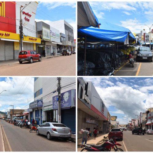 Comércio de Picos obedece decreto e lojas ficam fechadas neste sábado (27)