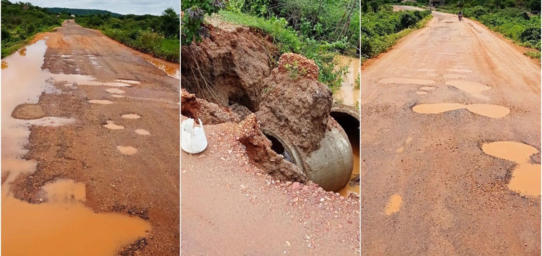 Após fortes chuvas, ponte é parcialmente interditada e prefeito de Floresta alerta para riscos