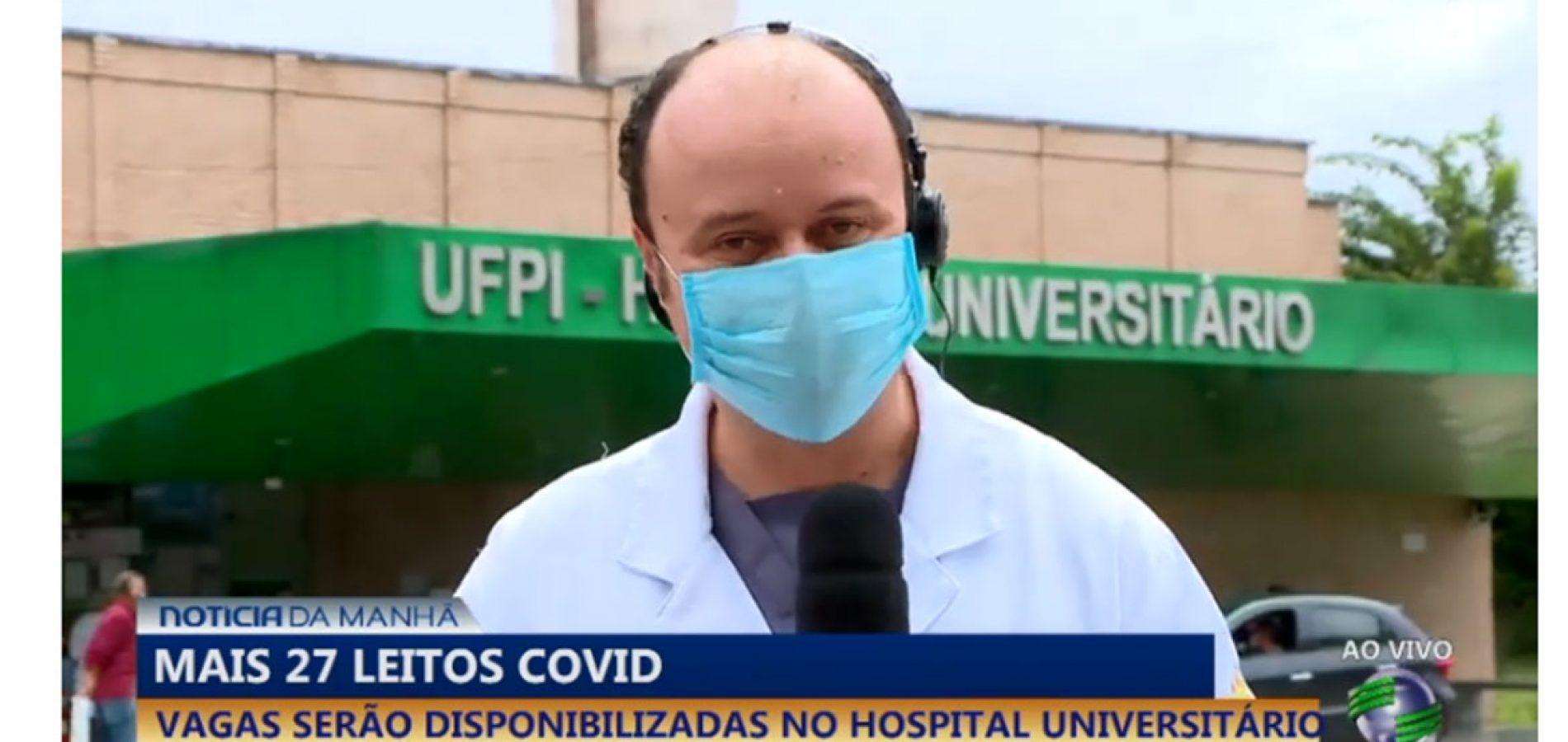 Em poucas horas, 27 leitos abertos no Hospital Universitário atingem lotação máxima