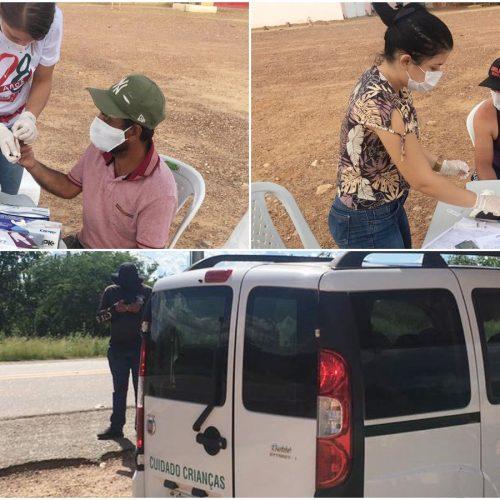 Saúde de Jacobina do Piauí instala barreiras sanitárias nas divisas do município, com realização de testagem rápida