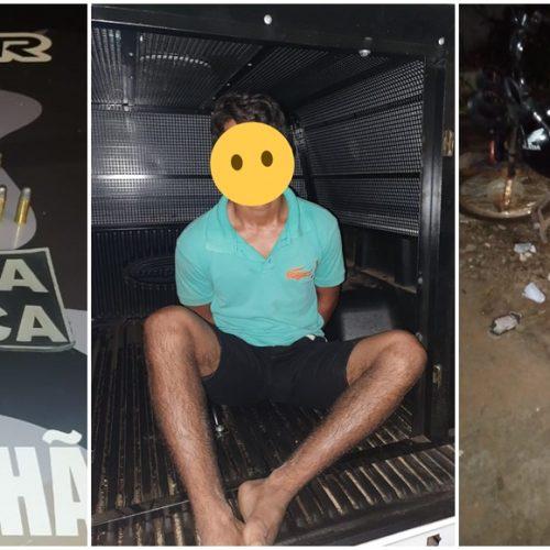 PM de Fronteiras conduz acusado de homicídio, latrocínio e assalto em municípios da região de Picos