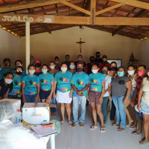 Saúde de Jacobina do Piauí imuniza comunidades quilombolas e policiaiscontra a Covid