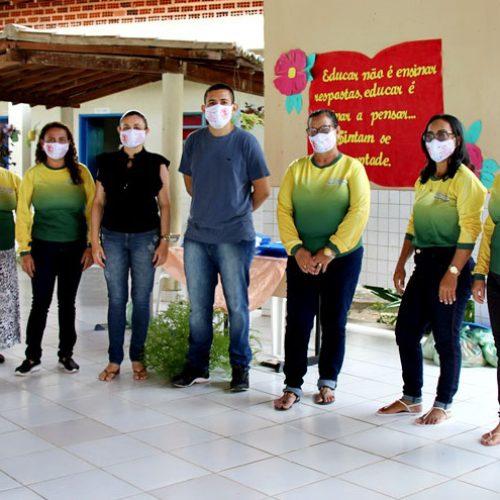 Educação de Vila Nova do Piauí distribui kits de merenda escolar para alunos da rede municipal