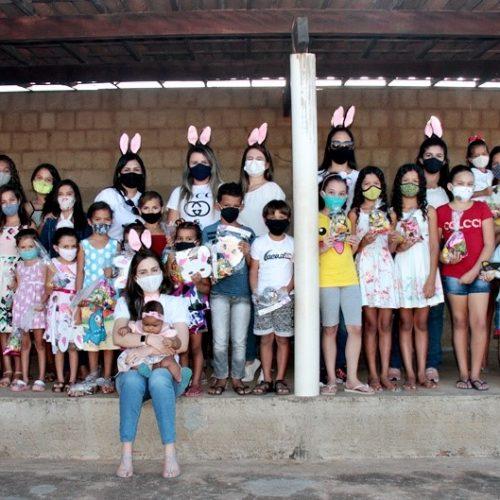 Páscoa da Assistência Social de São Julião leva alegria e material pedagógico para usuários do SCFV; fotos
