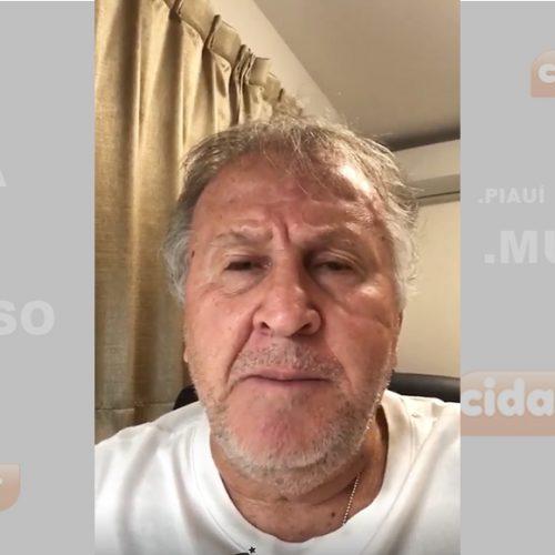 Ex-jogador Zico parabeniza time de São Julião no Piauí pelo aniversário de 26 anos; veja o vídeo