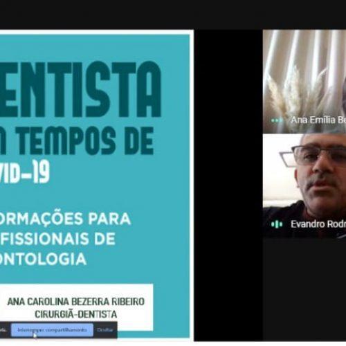 SANTANA   Profissionais da Saúde Bucal participam de capacitação on-line